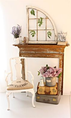 Mantel of the Month | Enchanted Treasures shabby chic romantic decorating and hand painted furniture.