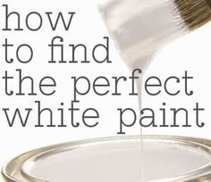 The Shabby Creek Cottage | Decorating | Craft Ideas | DIY: How to find the perfect white paint {advice from DIY bloggers} - and a giveaway!