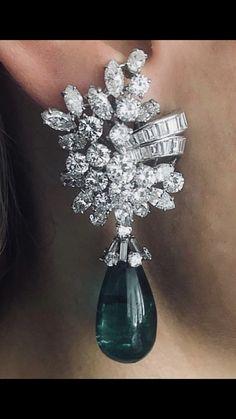 1314fd6137a8c Diamond Earrings Tiffany, Tiffany Jewelry, Emerald Jewelry, High Jewelry,  Heart Jewelry,