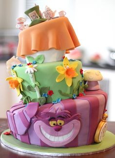 "Cute cake idea for this years ""Very Merry Un-Birthday Party""!"