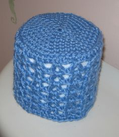 "I've decided this may not be such a ""granny ""   thing after all !Toilet Paper Cover - free crochet pattern"