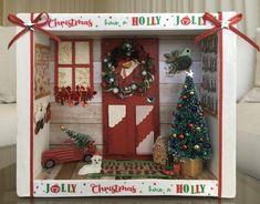 Merry Christmas, Christmas Tree Farm, Miniature Christmas, Christmas Crafts, Christmas Ideas, Christmas Signs, Rustic Christmas, Christmas Stuff, Diy Christmas Shadow Box