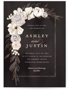 Foil Stamped Wedding Invitations, Wedding Favor Tags, Wedding Goals, Wedding Art, Wedding Planning, Wedding Dress, Invitation Card Design, Wedding Invitation Design, October Wedding Colors