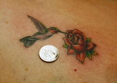 yellow rose tattoo with hummingbird - Yahoo Image Search Results