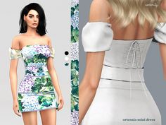Dolce & gabbana ortensia mini dress for The Sims 4 The Sims 4 Pc, Sims Four, Sims 4 Mm, Vêtement Harris Tweed, Veuve Cliquot, Cc Fashion, Fashion Dresses, Sims 4 Gameplay, Sims 4 Dresses