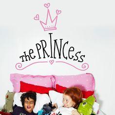 ¡Las princesas necesitan descansar! Vinilos decorativos para niños Chispum.