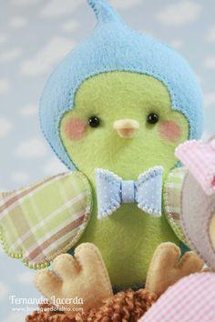 Baby Passarinho! Peças presentes em minha Apostila Digital Baby Pets. Para conhecer acesse: www.boutiquedofeltro.com