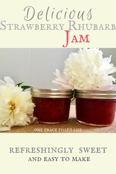 Homemade strawberry rhubarb jam that is delicious and so easy to make?! Yes, please!