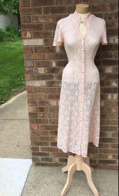 Stunning pale pink vintage dress.