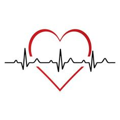Illustration of Heartbeat / heart beat pulse flat icon for medical apps and websites. vector art, clipart and stock vectors. Heartbeat Tattoo With Name, Heartbeat Tattoo Design, In A Heartbeat, App Background, Iphone Background Images, Love Background Images, Best Facebook Bio, Facebook Bio Quotes, Facebook Featured Photos