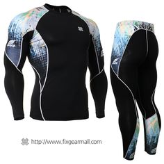 FIXGEAR CPD-B64B Compression Skin Tights Under Shirts MMA Workout Fitness GYM