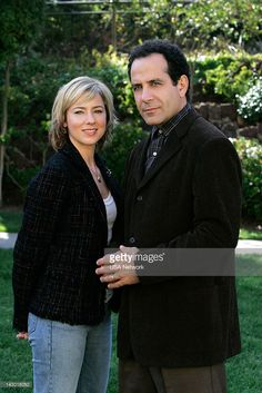 MONK -- 'Mr. Monk and the Red Herring' Episode 10 -- Pictured: (l-r) Traylor Howard as Natalie Teeger, Tony Shalhoub as Adrian Monk --