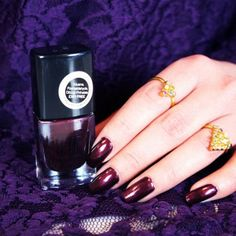 elf nail polish in Garnet