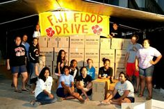 L7 Young Women helping out with the Fiji Flood Drive