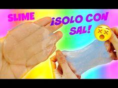 Haz SLIME solo con pegamento y sal   SLIME CRISTAL - TRANSPARENTE - YouTube