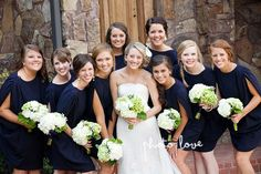 Bridesmaid hair all w/deep part yet still individual. hmm... maybe run it by the girls.