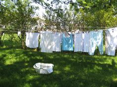 I love to hang clothes out on the line!