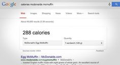 Google Shows Calorie and Carb Counts for Popular Restaurant Chains