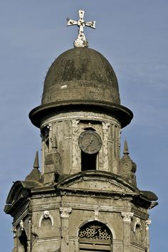 Cathedral at Managua, Nicaragua, damaged during earthquake of December 23, 1972