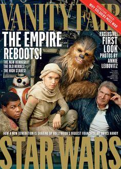 Joyeuse journée mondiale de Star Wars ! Pour l'occasion, l'édition américaine de Vanity Fair a dévoilé la « une » de son numéro de juin : les héros du prochain film, « Le réveil de la Force », posent devant l'objectif d'Annie Leibovitz.