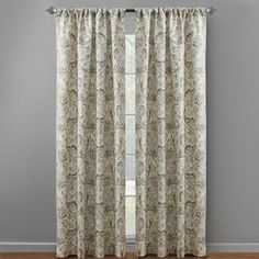 One of my favorite discoveries at ChristmasTreeShops.com: Gray Dolce Paisley Window Curtains, Set of 2