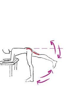 Übung für Po und Oberschenkelrückseite - Die besten Bauch-Beine-Po-Übungen - Noch eine tolle Übung, mit der Sie was für einen knackigen Po und straffe Oberschenkel tun! Übung: Stellen Sie sich vor einen Tisch oder eine andere niedrige Oberfläche...