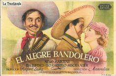 El Alegre Bandolero - Programa de Cine - Nino Martini - Ida Lupino Leo, Director, Martini, Actors, Popular, Old Books, Sketching, Brochures, Trading Cards