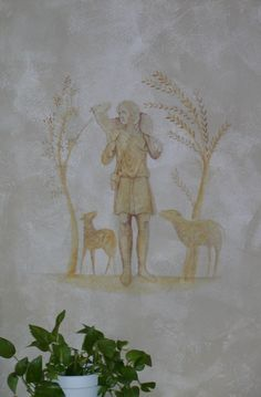 Mural of the Good Shepherd for a Church Atrium in Scottsdale