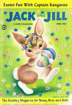 Jack and Jill magazine, Easter cover April 1960. #vintage #easter #illustration