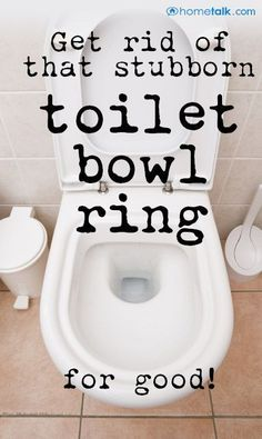 How to get rid of {The Ring Around the Toilet Bowl!} Homemade Cleaning Products, Household Cleaning Tips, Household Cleaners, Cleaning Recipes, House Cleaning Tips, Natural Cleaning Products, Spring Cleaning, Cleaning Hacks, Cleaning Supplies