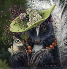 Greeting cards from original paintings by Arizona artist Carolyn Schmitz. Whimsical portraits of wildlife and native plants from the mountains and deserts. Woodland Creatures, Pics Art, Whimsical Art, Animal Paintings, Pet Portraits, Illustrators, Cute Pictures, Fantasy Art, Illustration Art