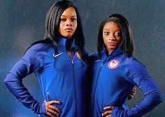 Gabby Douglas and Simone Giles Olympic Gold Gymnasts RIO 2016