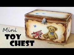 Miniature Furniture; Cute Toy Chest - Dolls/Dollhouse - YouTube
