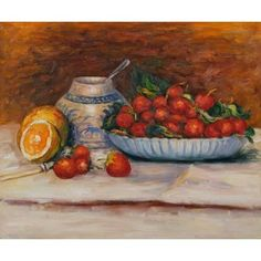 Strawberries Oil Painting by Pierre Auguste Renoir Pierre Auguste Renoir, Renoir Paintings, Cheap Paintings, Awesome Paintings, Strawberry Art, Strawberry Recipes, Strawberry Delight, Paul Cezanne, Claude Monet