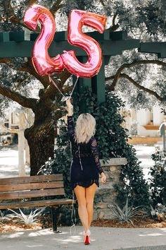 Blondie in the City | 25th Birthday | Birthday Balloon Post | Christian Louboutin's