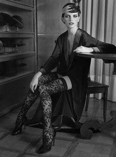 flower lace #stockings by La Perla #vintage