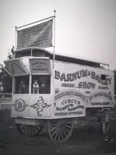 CIRCUS:  Barnum & Baily Ticket wagon. Setting up on vacant land meant the circus had to bring in everything necessary to put on shows and care for all involved, circus goer and the crew. The circus prospered enough to purchase its own train, which would take them around the nation for performances..