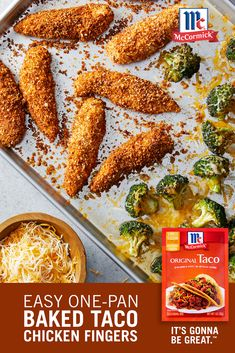 When you're running low on time, a one-pan meal is a perfect option for your weeknight dinner. The whole family will love this Baked Taco Chicken Fingers recipe, and you'll love that dinner will be ready in just 30 minutes!