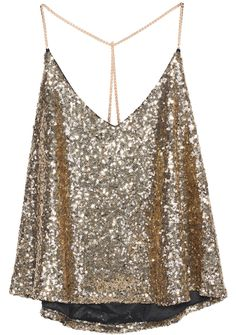 SheIn offers Gold Criss Cross Sequined Cami Top & more to fit your fashionable needs. Gold Sequin Top, Sequin Shirt, Sequin Tank Tops, Gold Top, Halter Tops, Gold Sequins, Halter Neck, Womens Fashion, Fashion Clothes