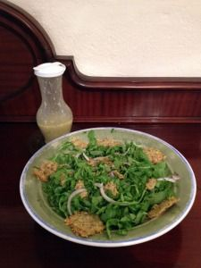 Watercress Arugula Salad with parmesan Crackers from The Digest Diet ...