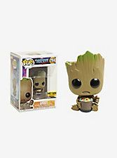 Groot from Marvel's blockbuster, Guardians of the Galaxy Vol. 2 , is given a fun, and funky, stylized look as an adorable collectible Pop! vinyl bobble-head from Funko - eating candy! Marvel 264 2 tall Vinyl Imported By Funko Funko Pop Dolls, Pop Figurine, Funk Pop, Disney Pop, Pop Toys, Pop Characters, Funko Pop Marvel, Pikachu, Funko Pop Vinyl
