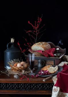 Rustic Bread Baked with Three Different Flours & Still Life with Bread & Eggs at Cooking Melangery