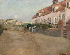 Frits Thaulow 1847-1906: Aften i Camiers, 1893
