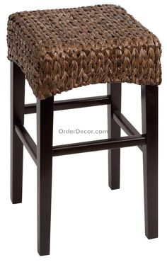 Accessories & furniture,Retro Wicker Counter Stool Backless With Rattan Material Feat Dark Solid Wooden Legs And Solid Wooden Footrest Combine Square Seating Section Shape For Your Living Room,Elegant Wicker Counter Stools For Your Home Furniture