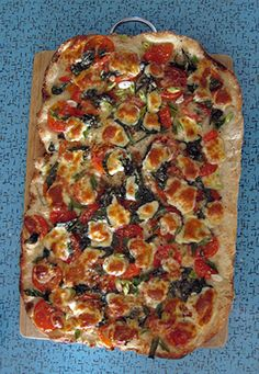 This yummy pizza would be so easy to make, using Trader Joe's dough.