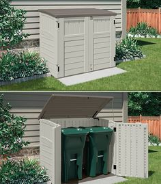 Outdoor organization is a cinch with this handy horizontal shed. Suncast Sheds, Shed Organization, Simple Shed, Outdoor Storage Sheds, Building A Shed, Shed Plans, Lawn And Garden, Outdoor Decor, Outdoor Ideas