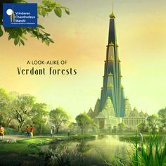 A replica of the verdant forests of the braj area with be created in the Mandir. Help us