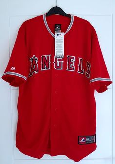 MAJESTIC LOS ANGELES ANGELS MLB Official Baseball Jersey Shirt Authentic  Men s M  Majestic Mlb Official 3119f5bb1