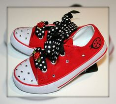 Little Fiori Ladybug Bling Sneakers Shoes $40
