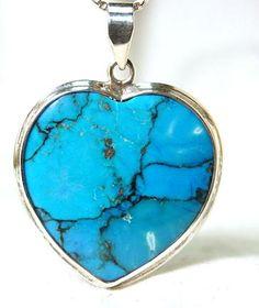Turquoise heart pendant